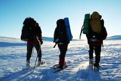 Winter hike Stock Photos