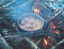 Winter hike food Stock Photos