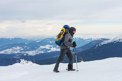 Winter hike Stock Image