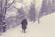 Winter hike Stock Photography