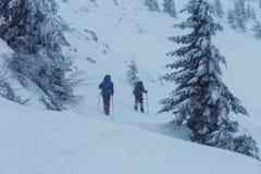 Winter hike Stock Photo