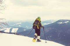 Winter hike Royalty Free Stock Image