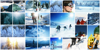 Winter hike Stock Image