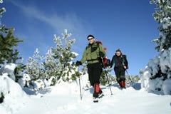 Winter hike. Stock Image