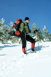 Winter hike. Stock Photography
