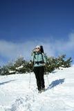 Winter hike. Stock Photo