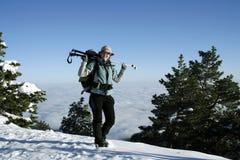 Winter hike. Royalty Free Stock Image