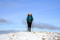 Winter hike. Stock Images