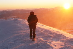 Winter hike Royalty Free Stock Images