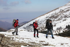 Winter hike Royalty Free Stock Photos