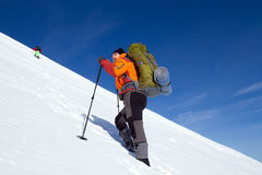 Winter hike on snowshoes. Stock Photography