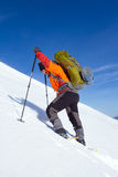 Winter hike on snowshoes. Royalty Free Stock Photos