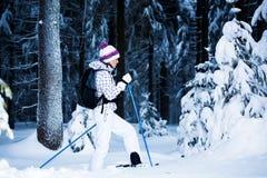 Winter hiking Stock Photos