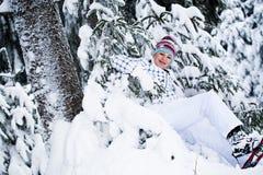Winter hiking Royalty Free Stock Image