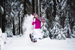 Winter hiking Stock Image