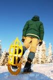 Winter hiking Stock Photo