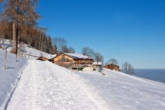 Winter hiking in the bavarian alps Stock Images