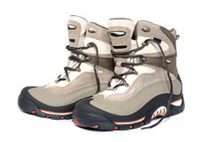 Winter hiking boots Royalty Free Stock Photos