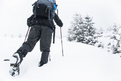Winter Hiking Royalty Free Stock Images