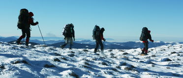 Winter hiking Royalty Free Stock Photography