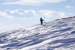 Winter hiking in Mountain, Bulgaria Royalty Free Stock Photo