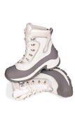 Winter hiking shoes on a white background Royalty Free Stock Photography