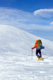 Winter hiking in snowshoes. Stock Photography