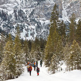 Winter Hiking in South Tyrol Royalty Free Stock Photo