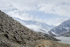 Winter in Himalaya mountains Stock Image