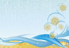 Winter-Hintergrund II lizenzfreie abbildung