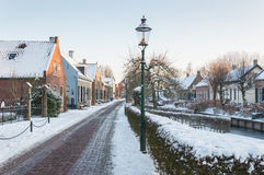 Winter in a historic village in the Netherlands Royalty Free Stock Photo