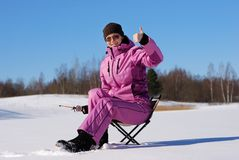 Winter hobby Royalty Free Stock Images