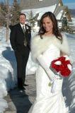 Winter-Hochzeit Stockbilder