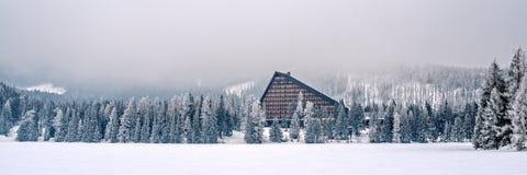 Winter in hohen Tatras-Bergen Lizenzfreies Stockbild