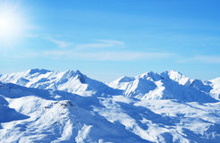 Winter holiday in the Alps. Winter sport ski holiday in the Alps Stock Photos