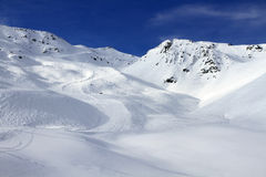 Winter holiday in the Alps. Winter sport and holiday in the Alps Royalty Free Stock Image