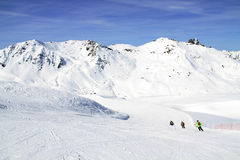Winter holiday in the Alps. Winter sport and holiday in the Alps Stock Image