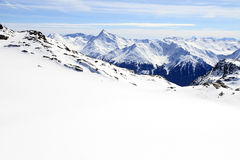 Winter holiday in the Alps. Winter sport and holiday in the Alps Stock Photo