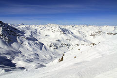 Winter holiday in the Alps Stock Images