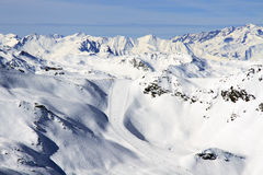 Winter holiday in the Alps. Winter sport and holiday in the Alps Stock Images
