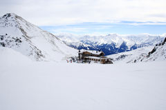 Winter holiday in the Alps. Winter sport and holiday in the Alps Royalty Free Stock Photos