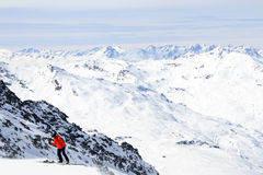 Winter holiday in the Alps. Winter sport and holiday in the Alps Stock Photography