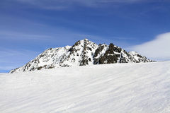 Winter holiday in the Alps. Winter sport and holiday in the Alps Royalty Free Stock Images