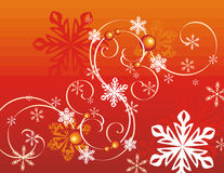 Winter holiday background. With snowflakes and swirls,  illustration Stock Photography