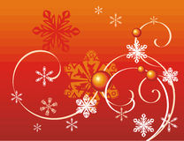 Winter holiday background. With snowflakes and swirls,  illustration Royalty Free Stock Photo