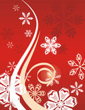 Winter holiday background. With snowflakes and swirls,  illustration Royalty Free Stock Images