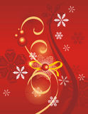 Winter holiday background. With snowflakes and swirls,  illustration Royalty Free Stock Photography