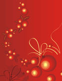 Winter holiday background. Winter holiday  background in red and yellow colors Royalty Free Stock Photography