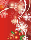 Winter holiday background. With many snowflakes,  illustration Stock Image