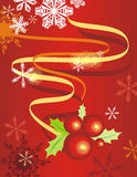 Winter holiday background. Winter holiday  background in red, green and yellow colors Royalty Free Stock Photos